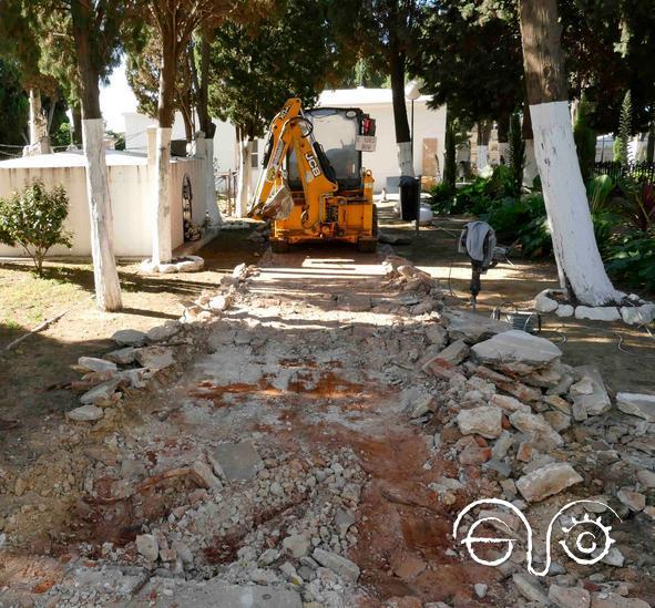 Obras en el cementerio viejo de Algeciras (Foto: wewb municipal).