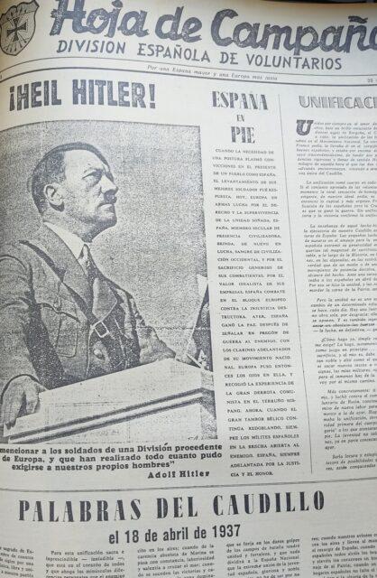 Hitler y Franco ocupaban numerosas páginas.