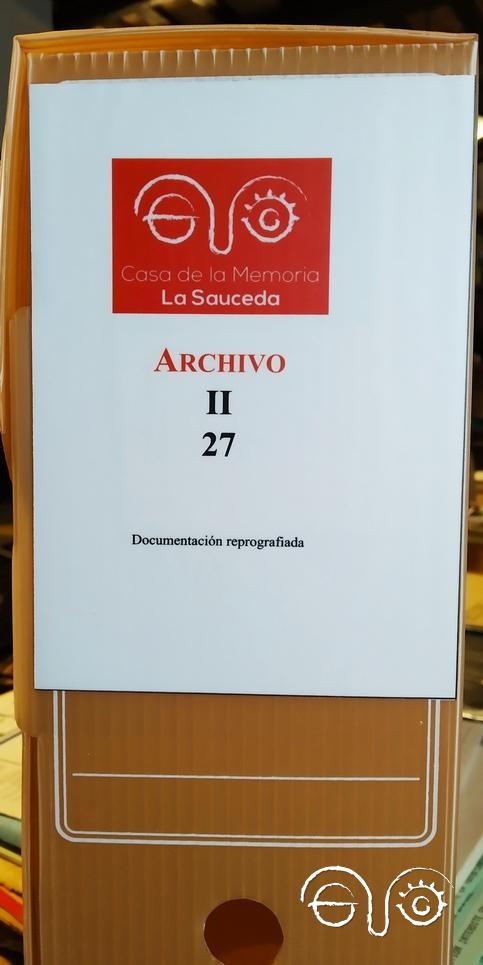 Etiqueta de la sección II del Archivo de la Casa de la Memoria.