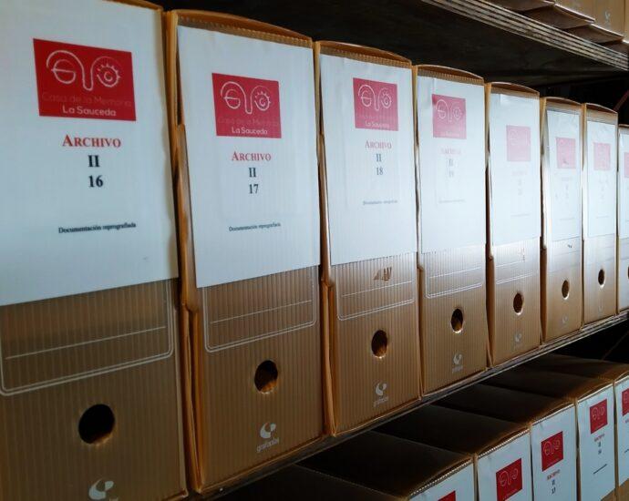 Legajos de la sección de documentación reprografiada del Archivo de la Casa de la Memoria.