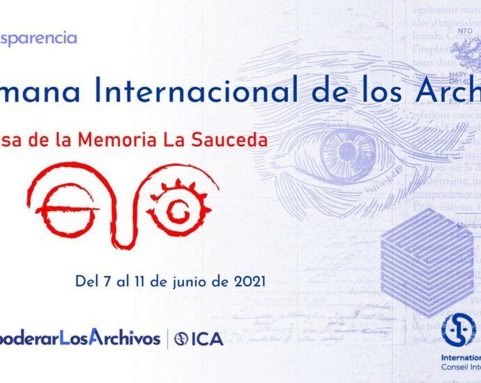 Cartel de la Semana Internacional de los Archivos.