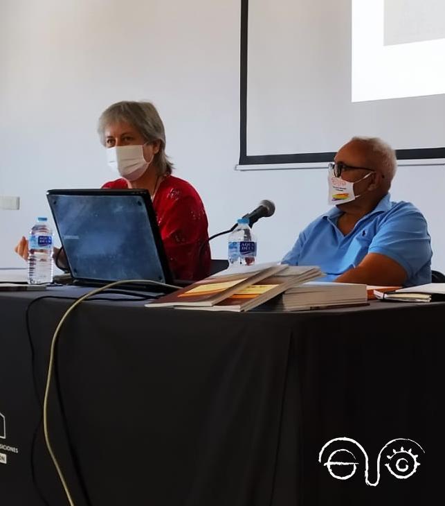 Beatriz Díaz, junto a Felipe López.