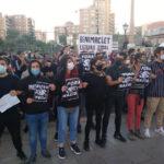 Vecinos de Benimaclet se concentrann contra el fascismo. (Foto: Raquel Andrés Durà)