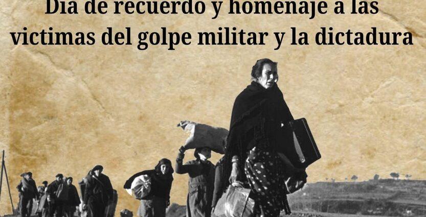 Día del recuerdo y homenaje a las víctimas del golpe militar y la dictadura.