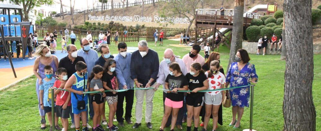 "Inauguración del parque ""Alcaldesa María Domínguez"" en San Roque (Cádiz)."