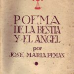 Portada del Poema de la bestia y el ángel, de Pemán.