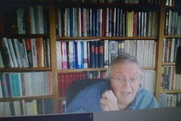 El profesor Paul Preston, durante la entrevista concedida desde Londres.