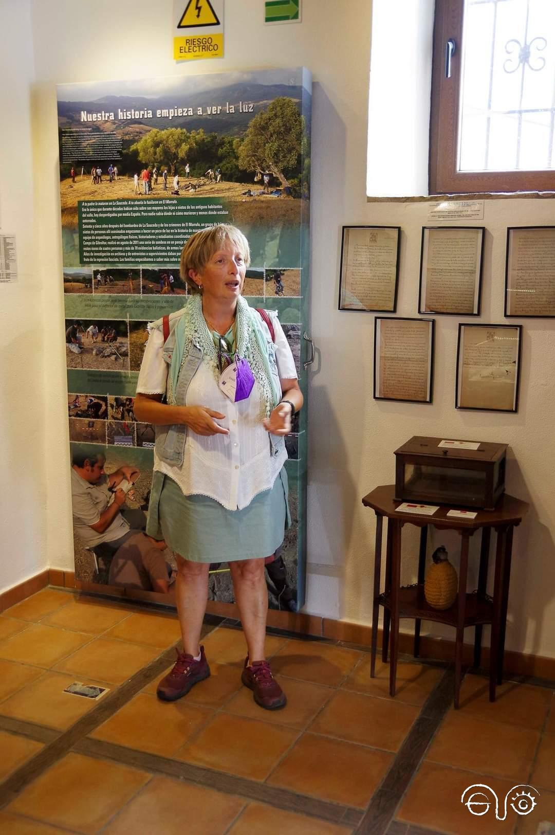 Concha Vázquez, en la sala de exposición permanente.