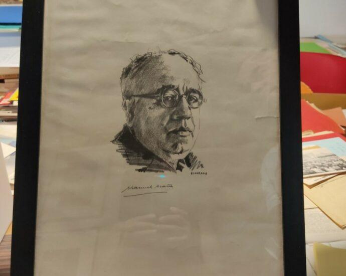 Retrato de Manuerl Azaña.