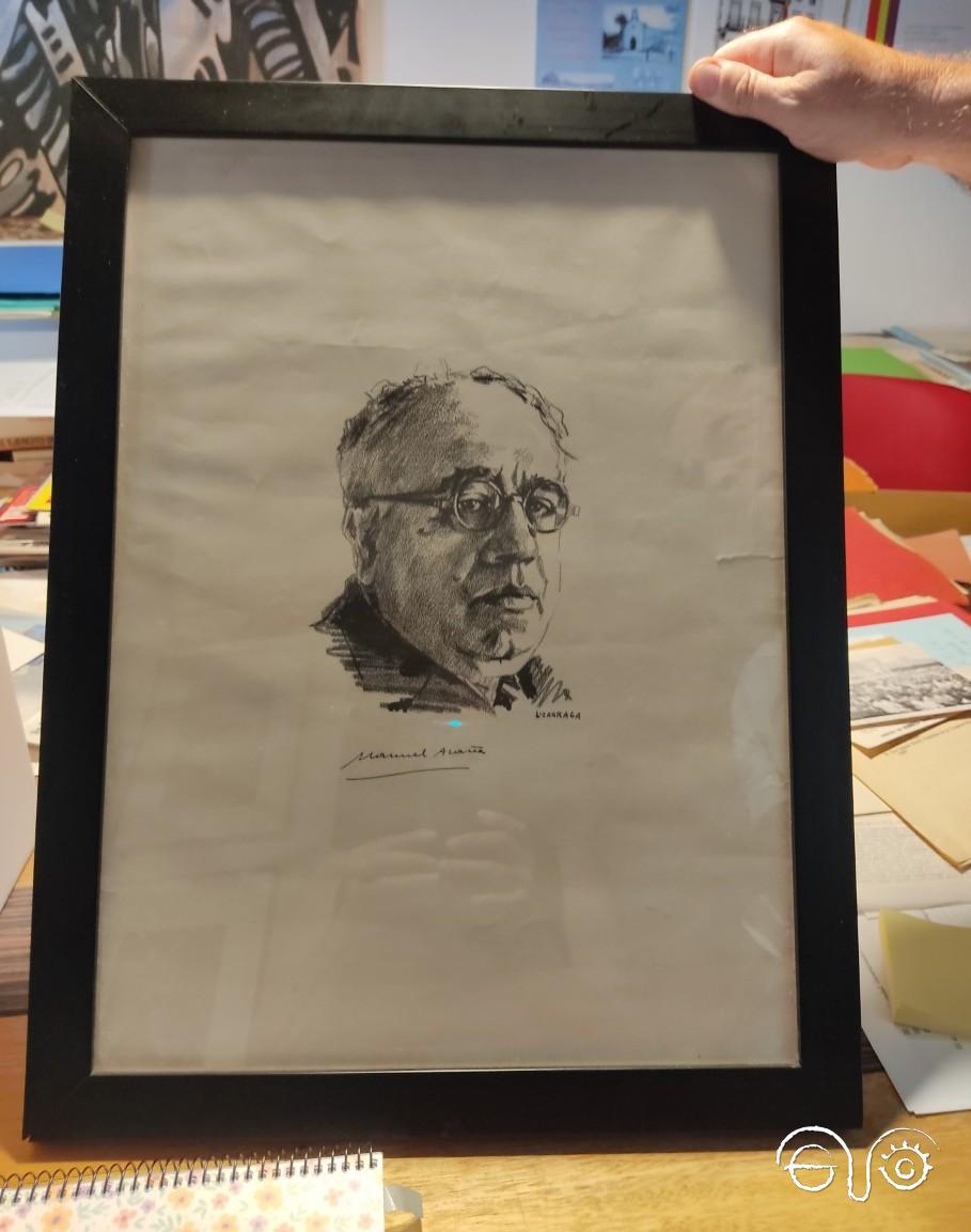 Retrato de Manuel Azaña.