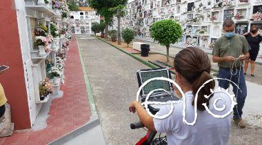 Pruebas geofísicas en el cementerio de La Línea.